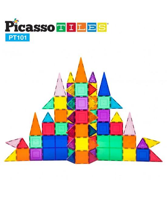 Set 101 Piese Magnetice De Construcție Colorate [3]