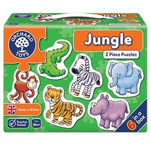 Set 6 puzzle Jungla (2 piese) - Joc educativ 0