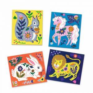 Set creativ cu margele, Animale si flori [1]