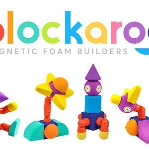 Set cuburi din spuma cu magnet Blockaroo - Castel 35 piese [4]