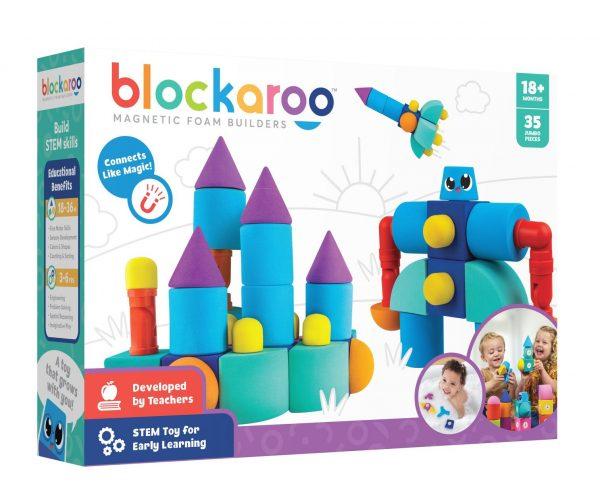 Set cuburi din spuma cu magnet Blockaroo - Castel 35 piese [0]