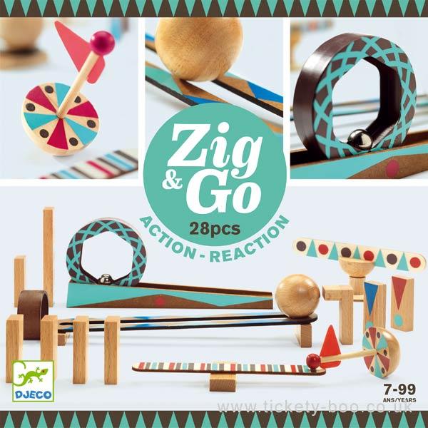 Zig & Go 28 piese - Set de constructie trasee [0]