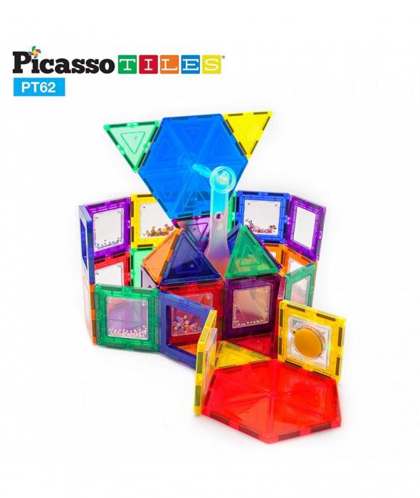 Set PicassoTiles Roată De Parc De Distracții - 62 Piese Magnetice De Construcție Colorate 2