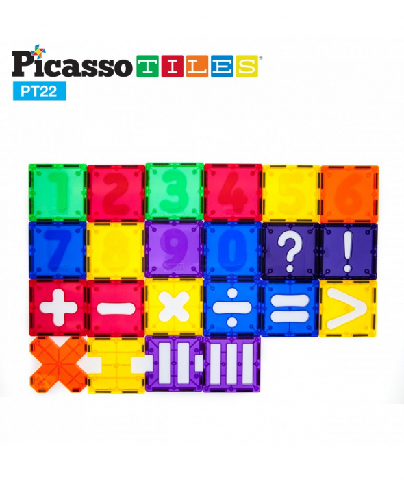 Set Magnetic Picasso Tiles Numerical - 22 Piese Magnetice de Construcție Colorate [0]