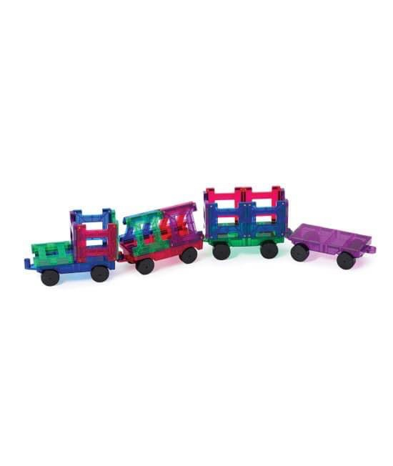 Set magnetic Playmags tren - 20 de piese de construcție 0