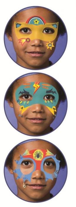 Set make-up culori non alergice Super Eroi [1]