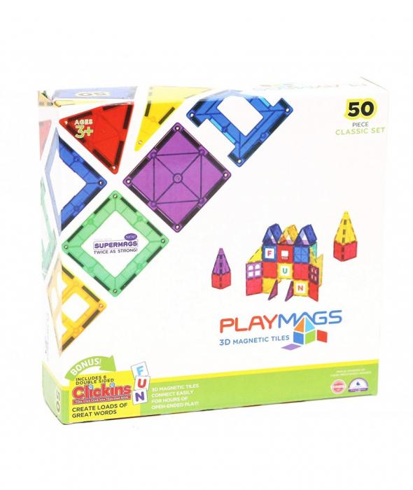 Set Playmags 50 piese magnetice de construcție 2