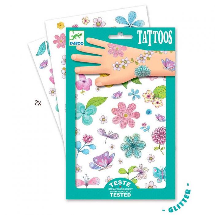 Tatuaje sclipitoare Flori 0