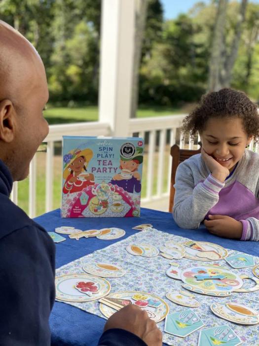 Tea Party Spinner Game - Invitatie la ceai - Joc educativ de rol cu ruleta 1