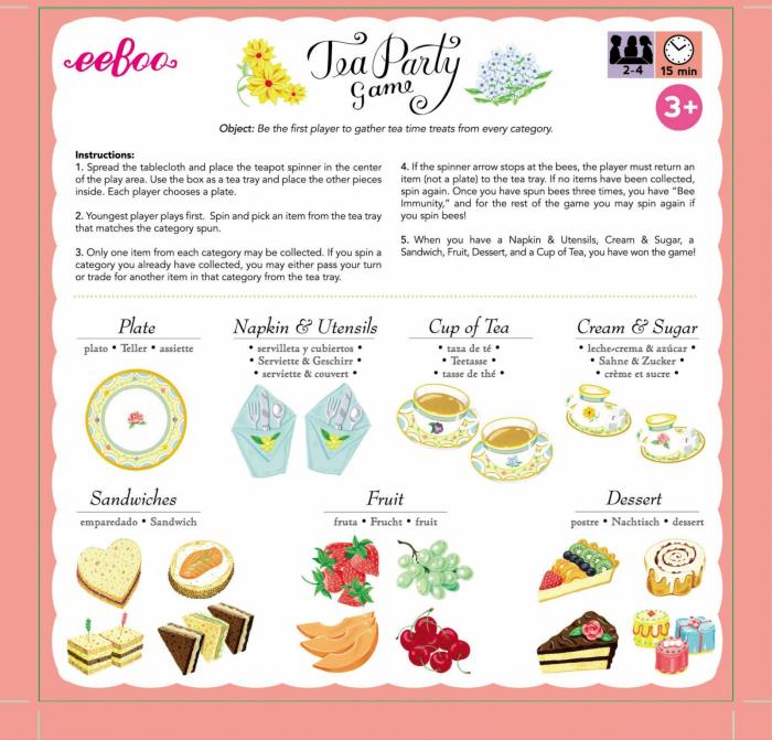 Tea Party Spinner Game - Invitatie la ceai - Joc educativ de rol cu ruleta 5