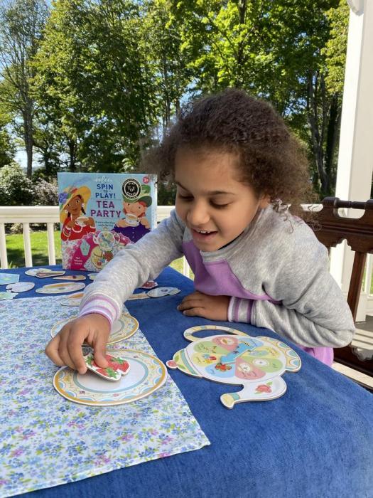 Tea Party Spinner Game - Invitatie la ceai - Joc educativ de rol cu ruleta 2