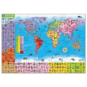 WORLD MAP PUZZLE & POSTER - Joc educativ 1