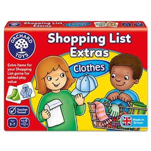Shopping list extras - Clothes - Joc educativ0