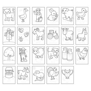 Carte de colorat cu activitati in limba engleza si abtibilduri Ferma FARMYARD2