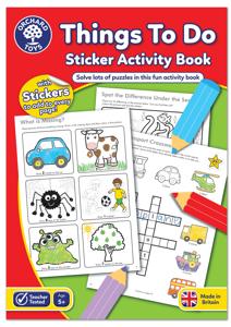 Carte de colorat cu activitati in limba engleza si abtibilduri Lucruri de Facut THINGS TO DO0