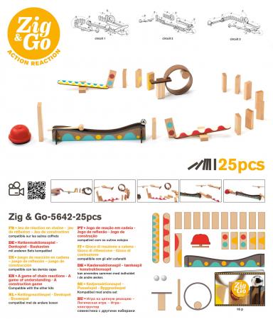 Zig & Go 25 piese - Set de constructie trasee [1]