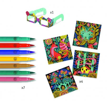 Fantezie in padure - Atelier de colorat 3D [2]