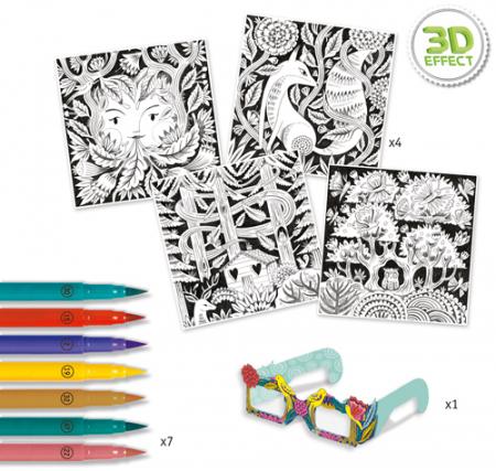 Fantezie in padure - Atelier de colorat 3D [1]