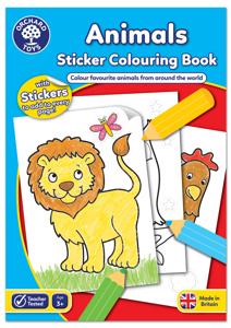 Carte de colorat cu activitati in limba engleza si abtibilduri Animale ANIMALS [0]