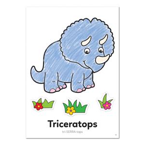Carte de colorat cu activitati in limba engleza si abtibilduri Dinozaur DINOSAUR1