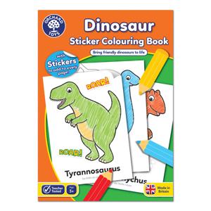 Carte de colorat cu activitati in limba engleza si abtibilduri Dinozaur DINOSAUR0