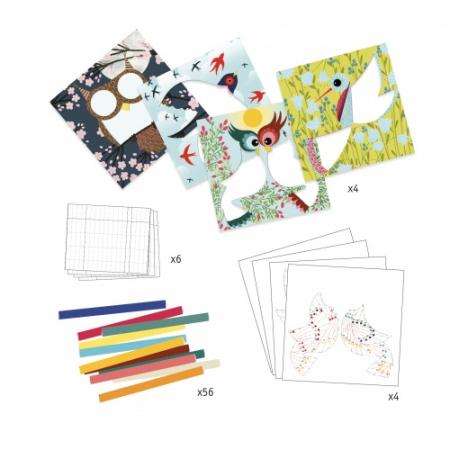 Atelier creativ cu hartie plisata Pasari1
