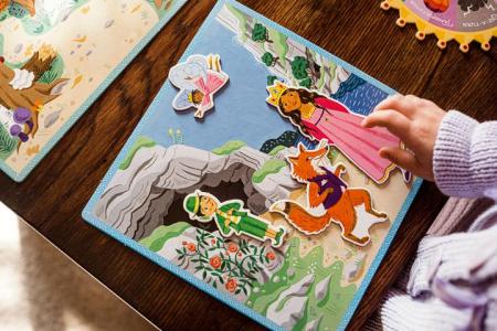 Fairytale Spinner Game - Joc educativ cu ruleta pentru dezvoltarea vocabularului si a limbajului4