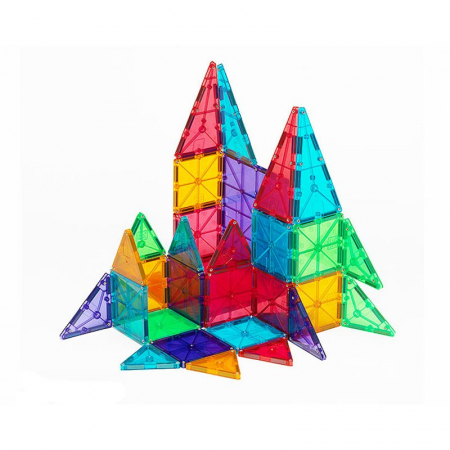Magna-Tiles Clear Colors set magnetic (32 piese)1