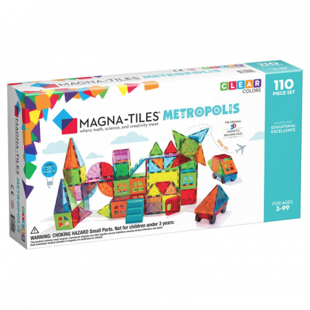 Magna-Tiles Metropolis set magnetic (110 piese)0