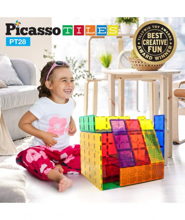 Set Magnetic Picasso Tiles - 28 Piese0