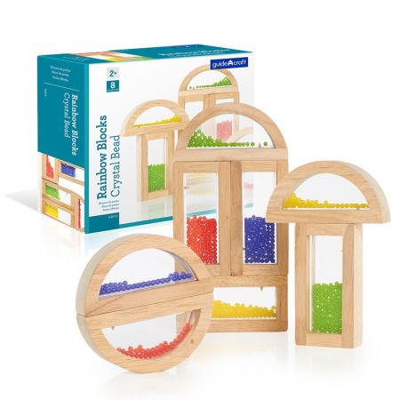 Rainbow Blocks cu margele colorate0