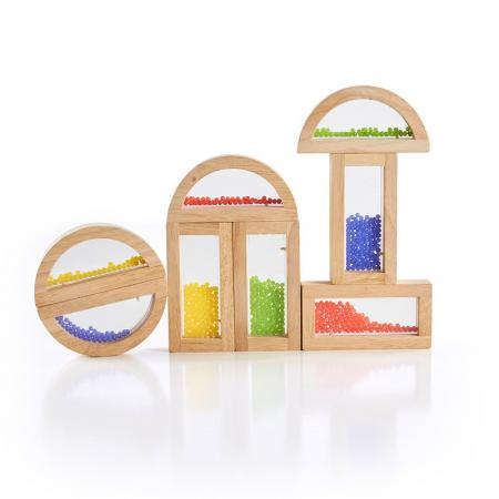 Rainbow Blocks cu margele colorate1