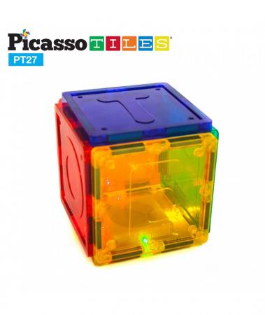 Set Magnetic Picasso Tiles Alfabet - 27 Piese Magnetice de Construcție Colorate2