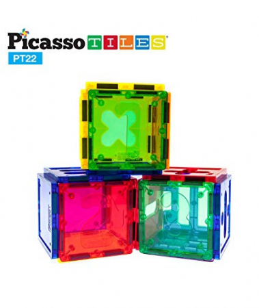 Set Magnetic Picasso Tiles Numerical - 22 Piese Magnetice de Construcție Colorate [2]