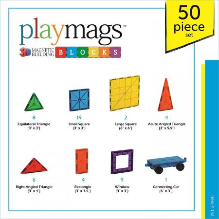 Set Playmags 50 piese magnetice de construcție1