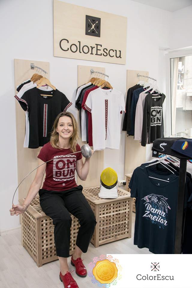 Ana Maria Brânză și tricouri românești ColorEscu – energie și inspirație