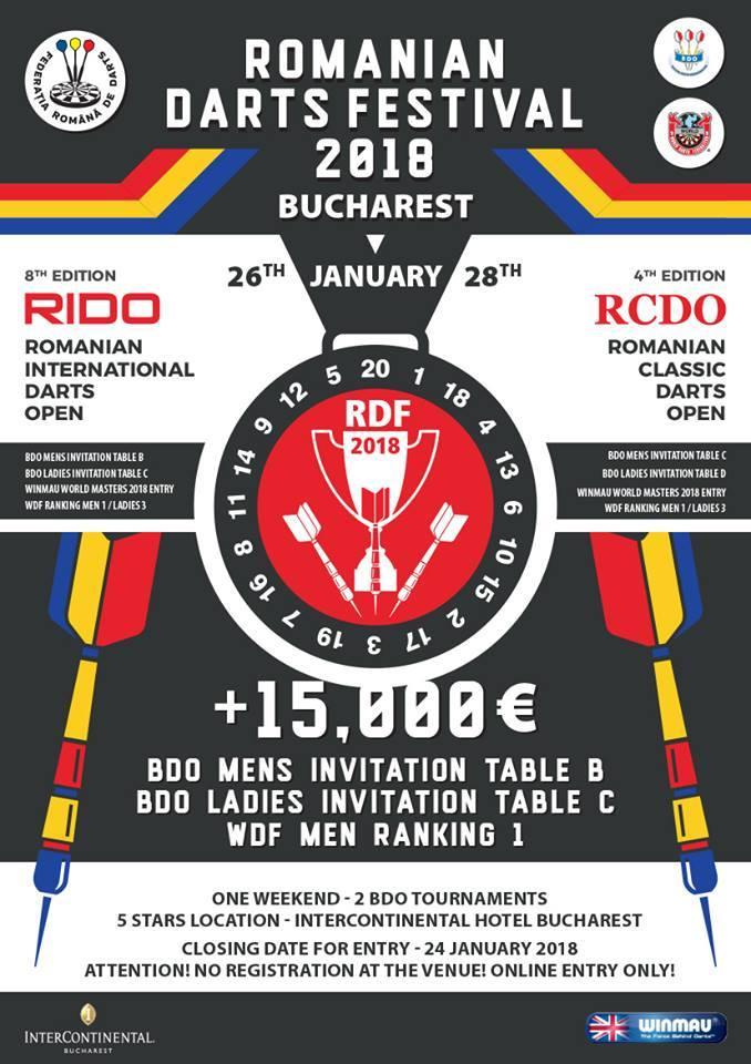 Afis Romanian Darts Festival 2018