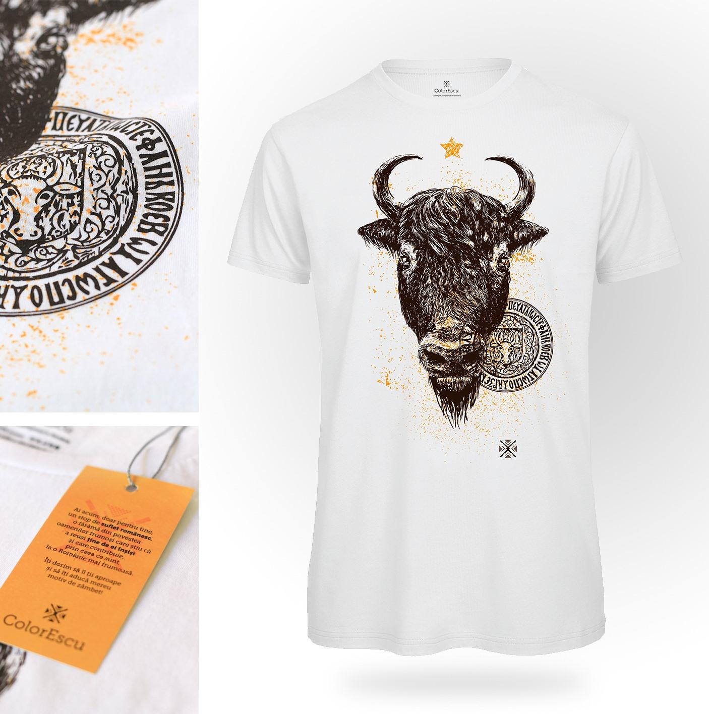 Zimbrul și Capul de Bour – Noi simboluri românești pe tricourile ColorEscu