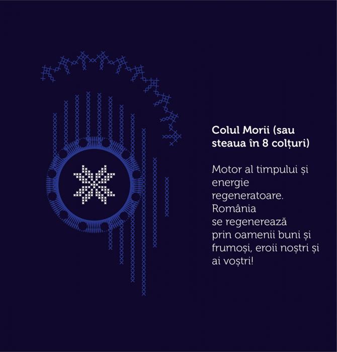 Tricou Simbol România, bleumarin, bărbat 1