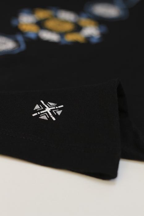 Tricou Coloană Tradițională, bărbat, culoare neagră 1