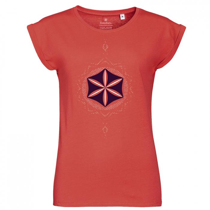 Tricou Floarea Vieții, corai, damă 0