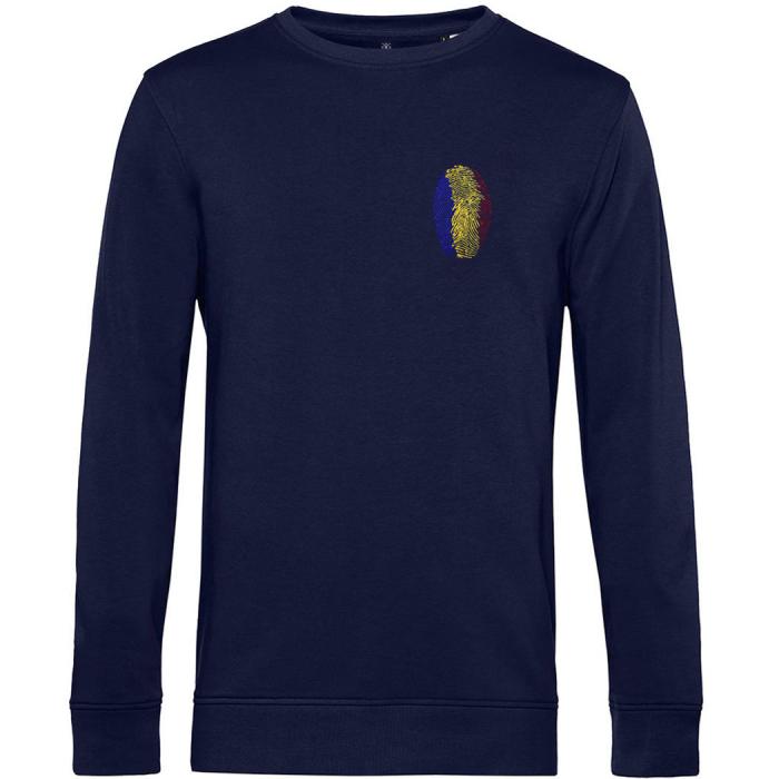 Bluză Amprentă România, broderie, culoare bleumarin 0