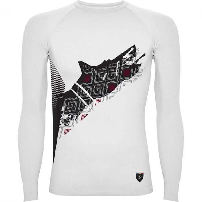 Bluză de compresie sport Lup Dacic, material tehnic sport, unisex [0]
