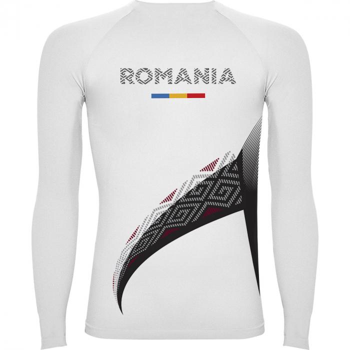 Bluză de compresie sport Lup Dacic, material tehnic sport, unisex [1]