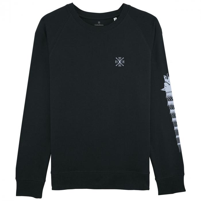 Bluză Lupul Dacic, culoare neagră 0