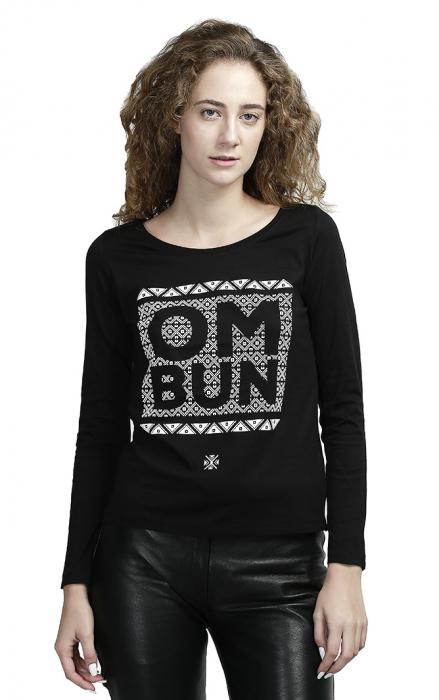 Bluză Om Bun, damă, culoare neagră 1