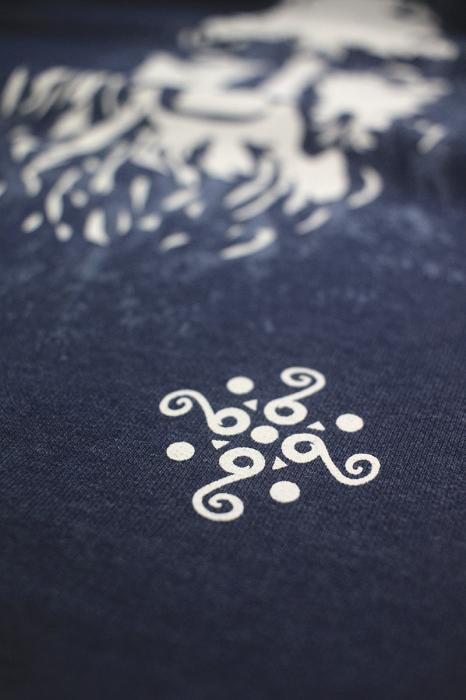 Bluză Decebal, culoare denim 1