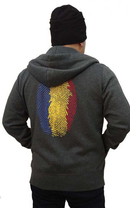 Hanorac Amprentă România - fermoar 2