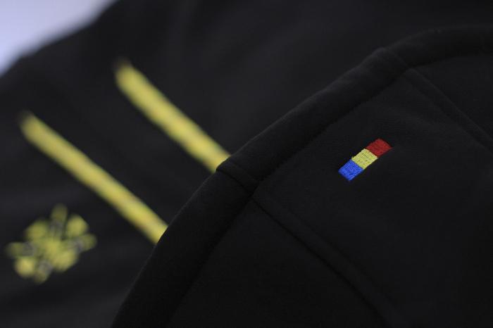 Hanorac Șnur Tricolor, culoare neagră [2]