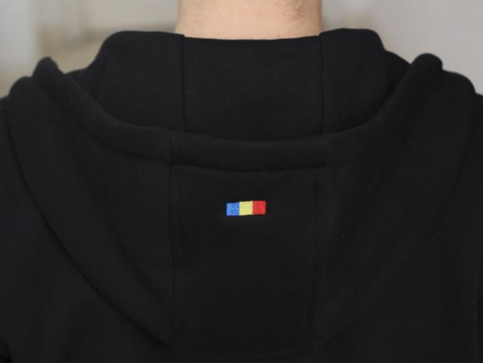 Hanorac Șnur Tricolor, culoare neagră [3]